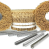 Aluminum clips for sausage casings